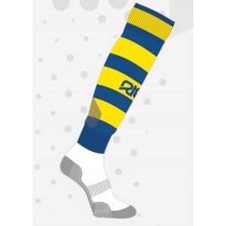 Chaussettes de rugby NODZ Royal/Jaune, par RTEK