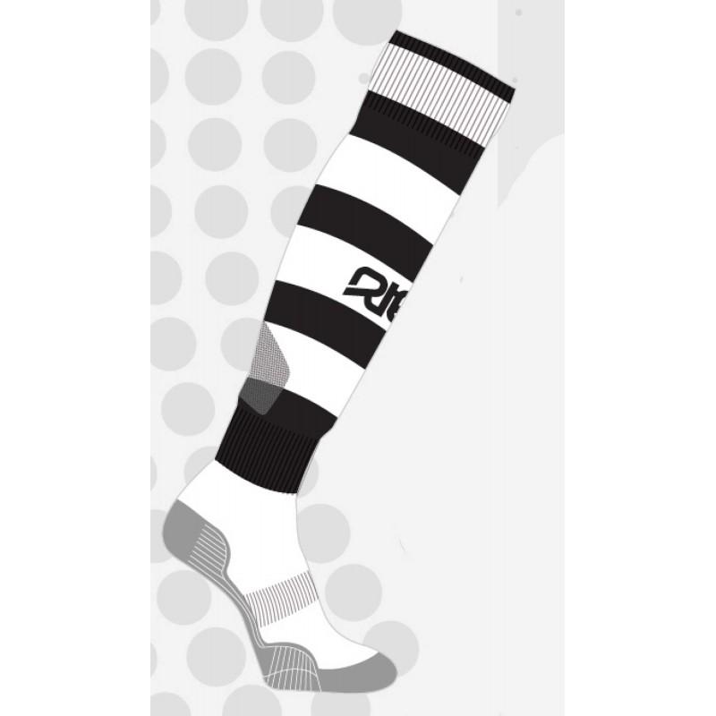 Chaussettes de rugby NODZ Noir/Blanc, par RTEK