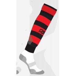 Chaussettes de rugby NODZ Noir/Rouge, par RTEK