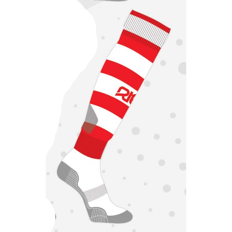 Chaussettes de rugby NODZ Rouge/Blanc, par RTEK