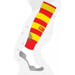Chaussettes de rugby NODZ Rouge/Jaune, par RTEK