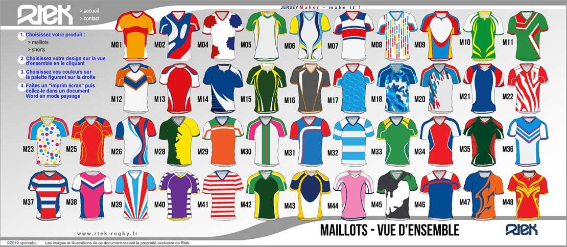 Dessinez votre maillot de rugby en ligne